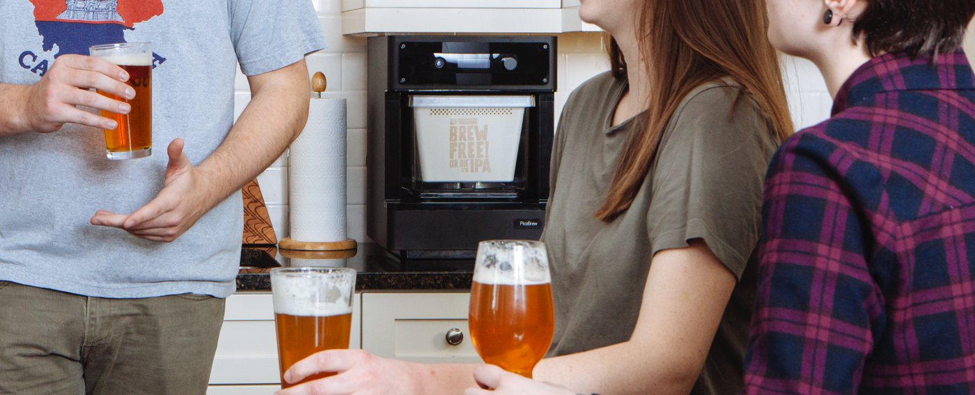 Pico C and brewers in kitchen