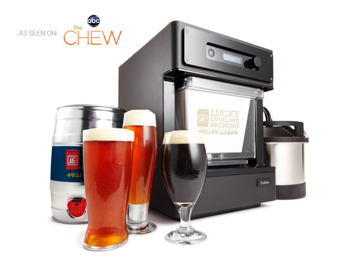 Pico C hardware rendering with beer glasses and kegs